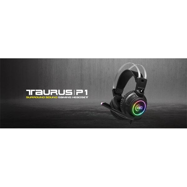 KWG gaming headset TAURUS P1 RGB USB (17310-00000-00100-G)