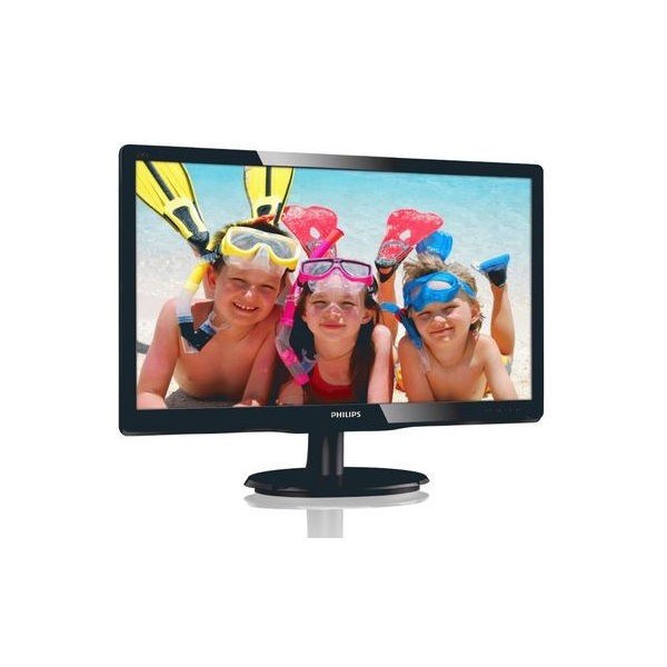 "Philips MVA monitor 19,5"" - 200V4QSBR/00 1920x1080, 16:9, 250 cd/m2, 8ms, VGA, DVI (200V4QSBR/00)"